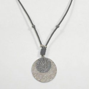 Silpada Sterling Silver Disc Pendant Necklace